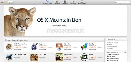 OS X Mountain Lion - Mac App Store