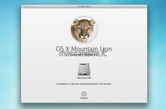 OS X Mountain Lion - Installazione Step 5