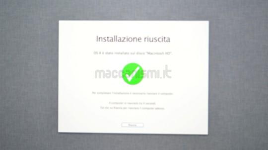 OS X Mountain Lion - Installazione Riuscita