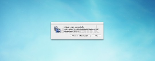 OS X Mountain Lion - Software non compatibile
