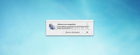 OS X Mountain Lion - Software non compatibile