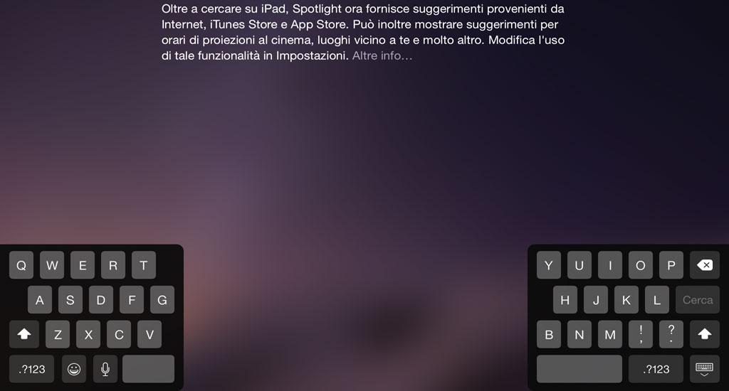 Tastiera iPad spostata o divisa in due: come riportarla alla posizione originale