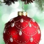 Palla rossa albero di Natale