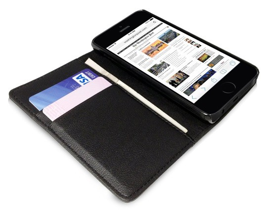 iPhone 5 Orzly Wallet Case Cover Portafogli - Aperto