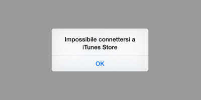 Impossibile connettersi a iTunes Store