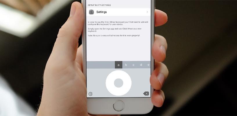 La ghiera cliccabile dell'iPod sull'iPhone con Click Wheel Keyboard