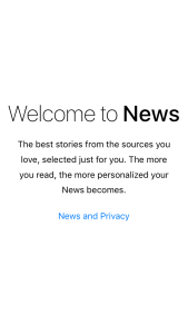 Welcome to News - Applicazione News di iOS 9