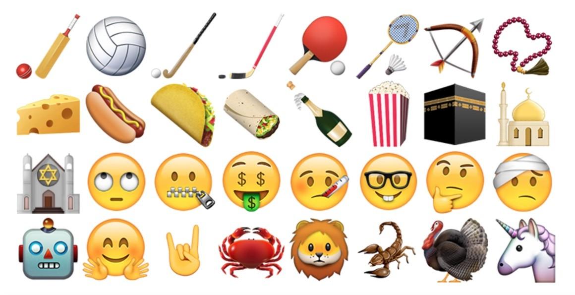 Nuove emoji in iOS 9.1: tra diti medi, unicorni e kebab