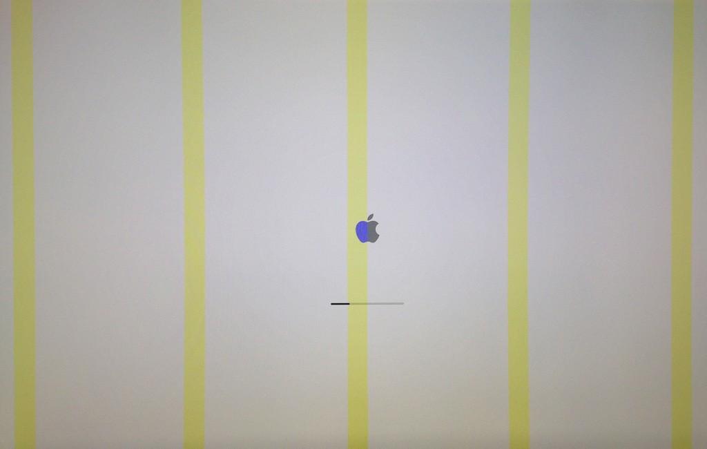 Macchie, linee e quadratini colorati sullo schermo dell'iMac
