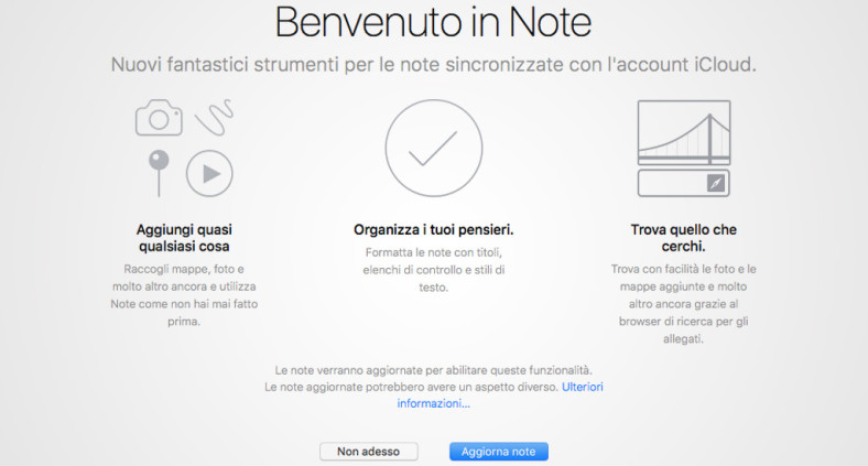 Nuova App Note - OS X El Capitan