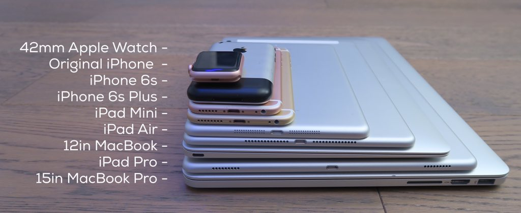 Dispositivi Apple in pila