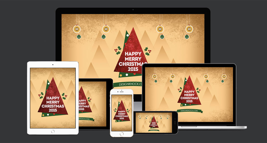 Sfondi HD di Buon Natale 2015 per iPhone, tablet e computer