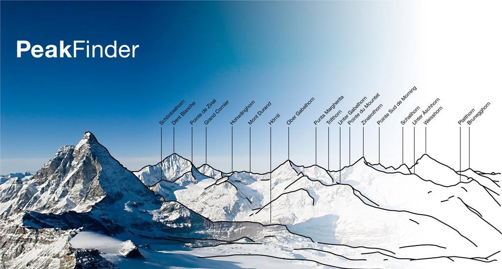 PeakFinder l'app che riconosce i nomi delle montagne
