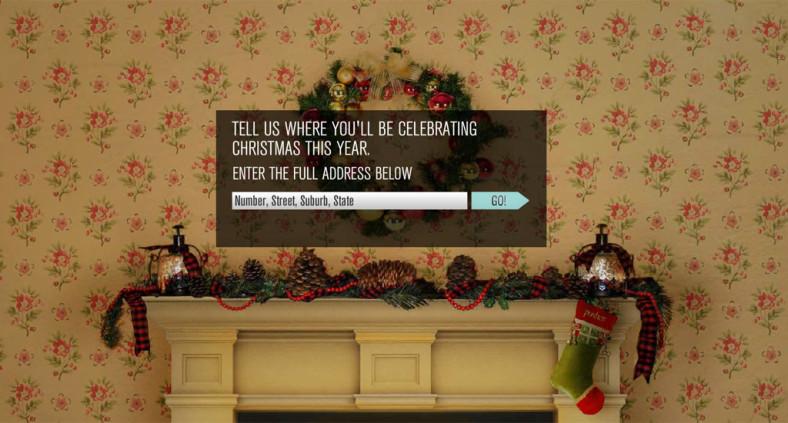Cartolina di Natale online - Neve fuori casa