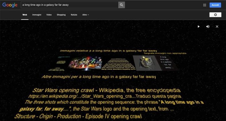 Google Star Wars - a long time ago in a galaxy far far away