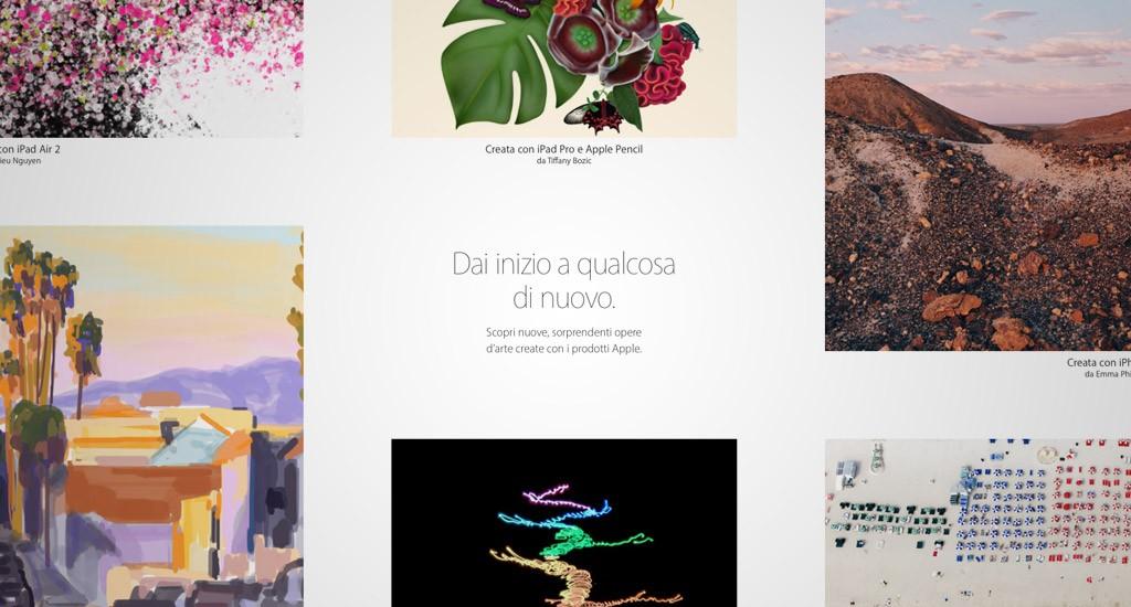 Nuove opere d'arte create con i prodotti Apple