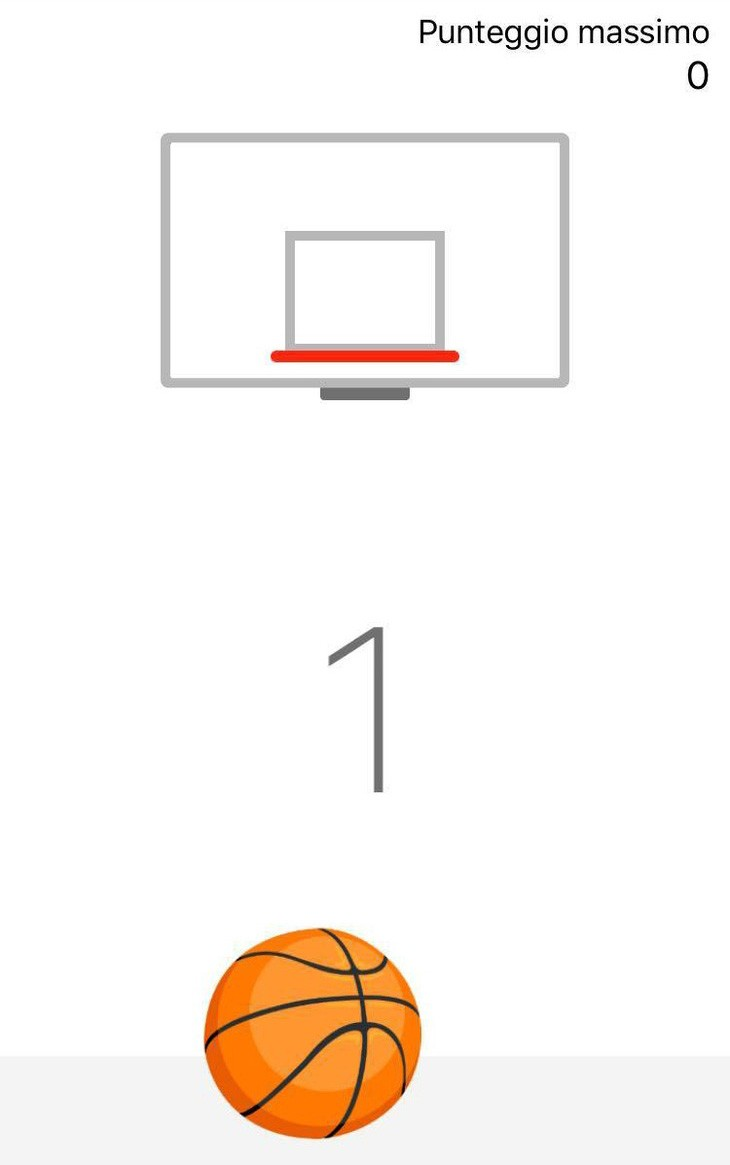 Gioco del basket su Facebook Messenger