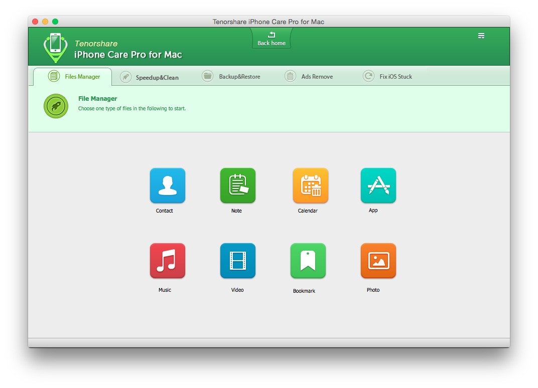 Tenorshare iPhone Care Pro - Files Manager