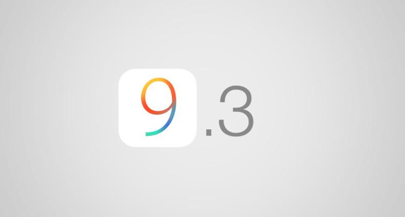 Aggiornamento iOS 9.3