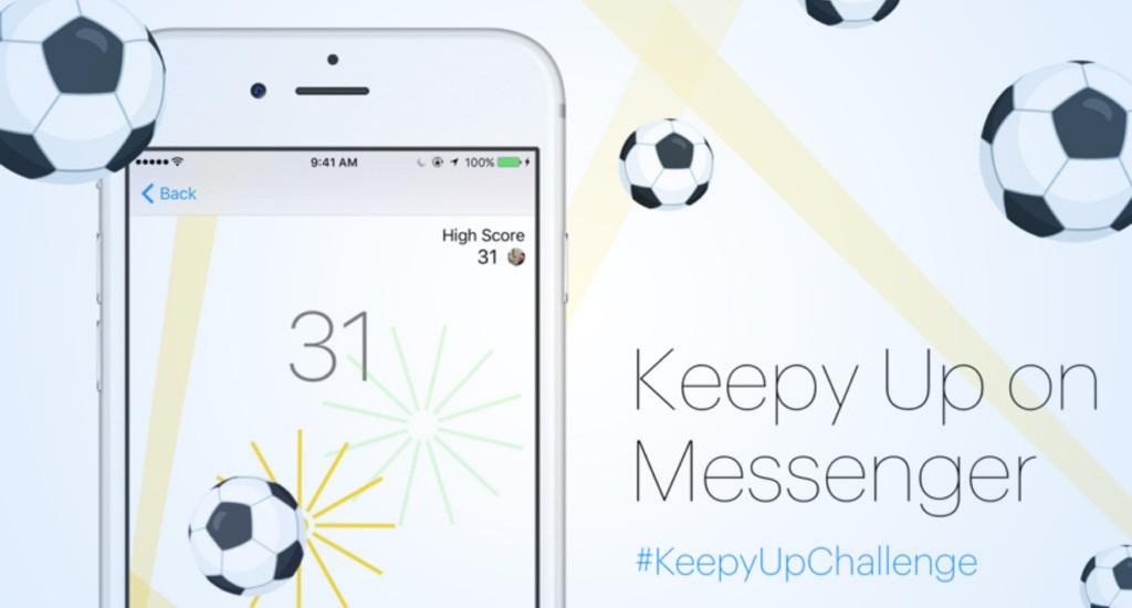 Keep Up il gioco del calcio su Facebook Messenger