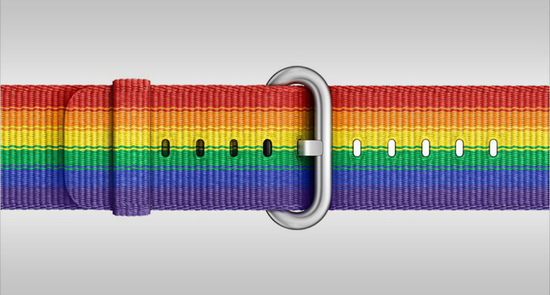 Cinturino Arcobaleno Pride Edition in nylon per Apple Watch