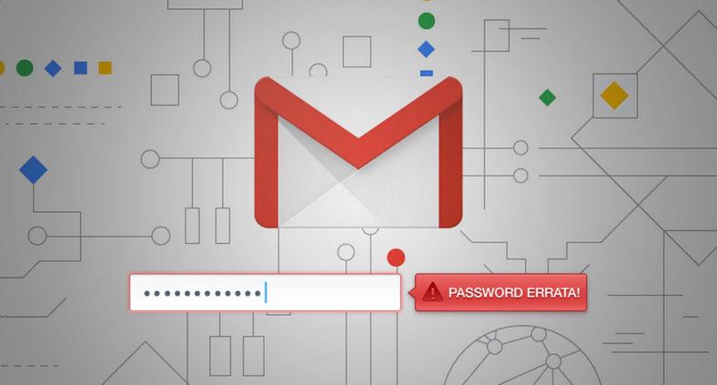 Gmail e l'errore della password errata anche se digitata correttamente