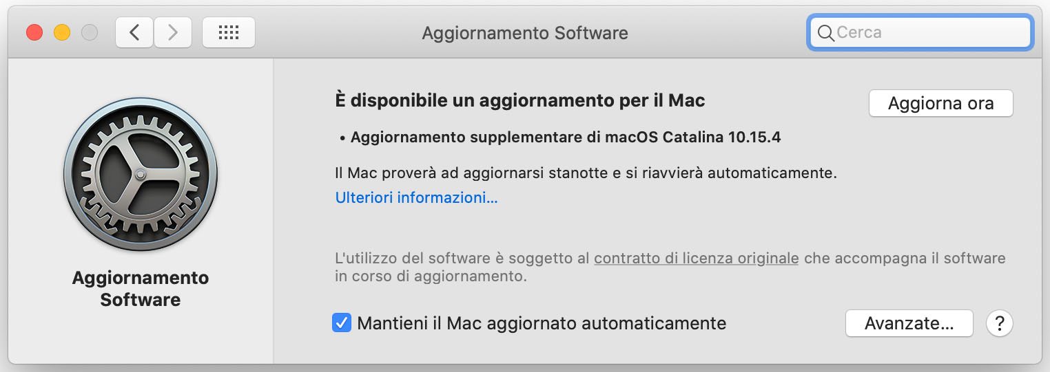 Aggiornamento macOS Catalina 10.15.4: fix per FaceTime ed Office