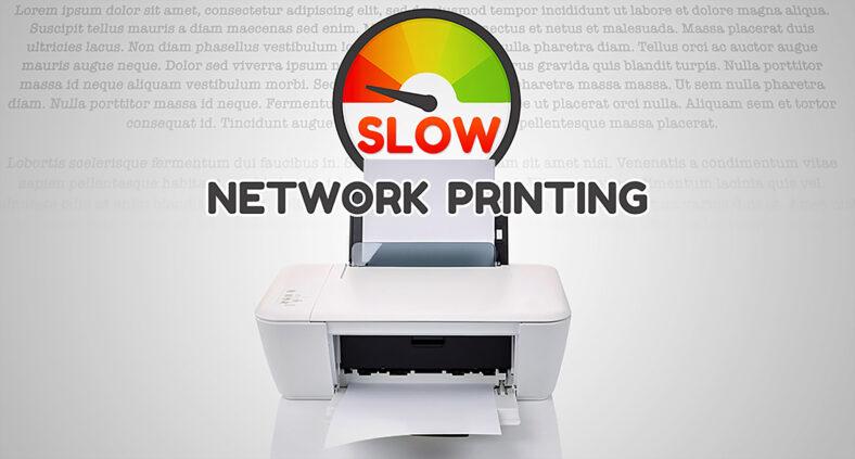 Stampante di rete lenta o che non stampa da Windows 10